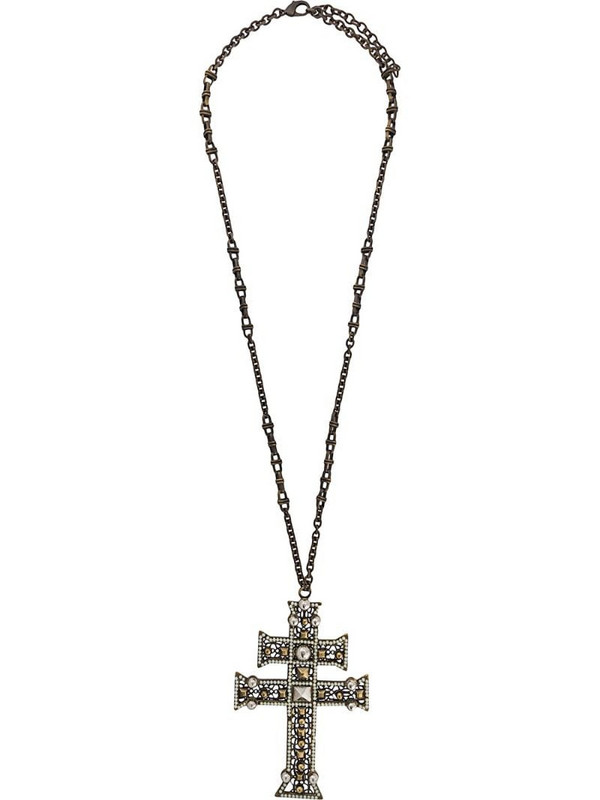 Gianfranco Ferré Pre-Owned 2000s cross pendant necklace in gold