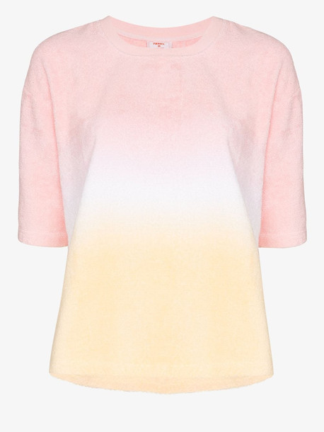 TERRY TOWELLING TERRY TEE CN SS WARM GRADIENT in pink