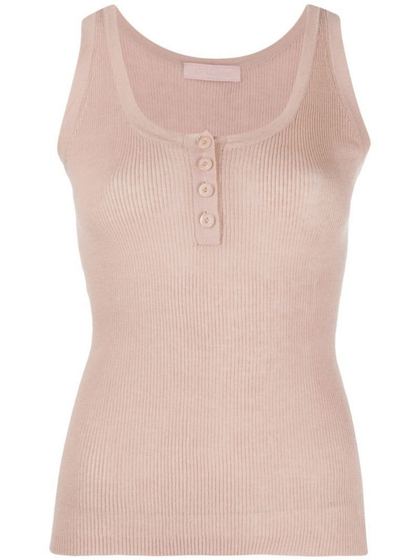 Drome ribbed tank top in neutrals