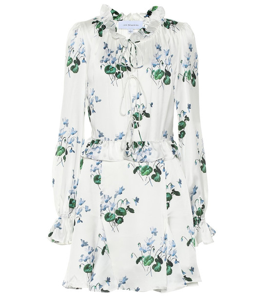 Les Rêveries Floral silk-satin minidress