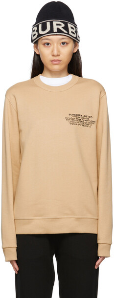 Burberry Beige Location Print Sweatshirt
