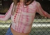 blouse,pink mesh top
