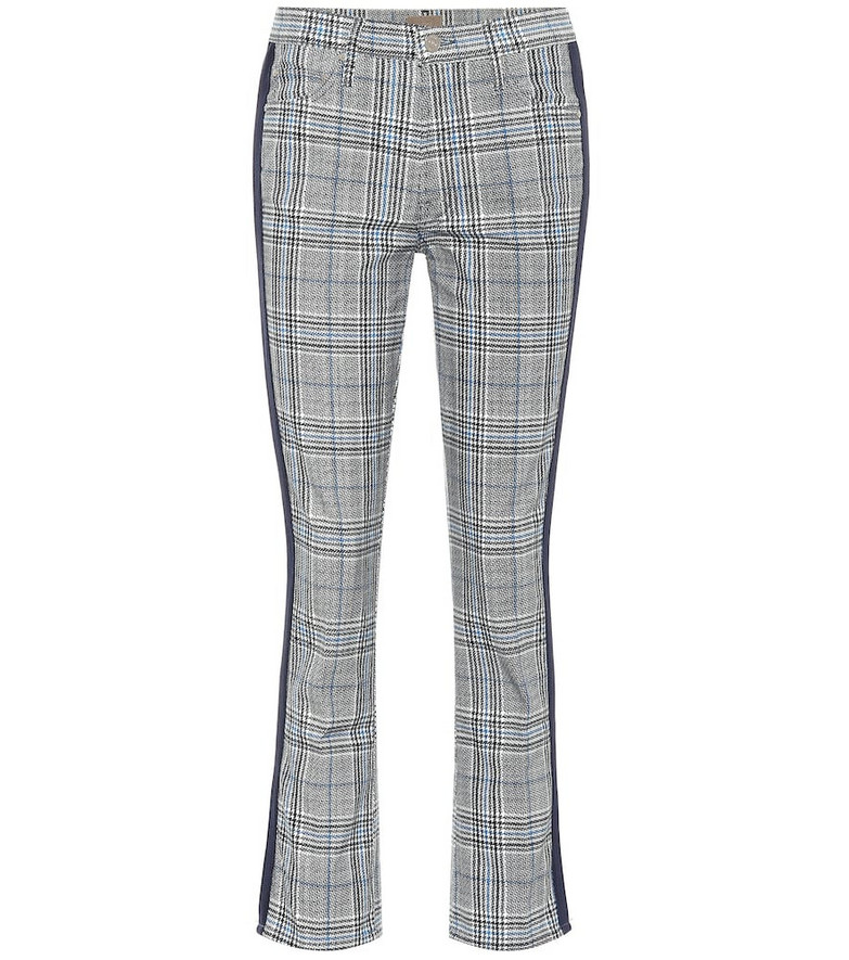 Mother The Insider Ankle straight pants in grey