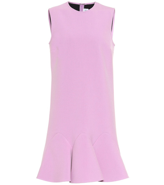 Victoria Victoria Beckham Flounce-hem sleeveless minidress in purple