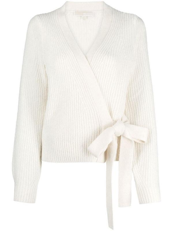 Michael Michael Kors chunky knit wrap cardigan in white