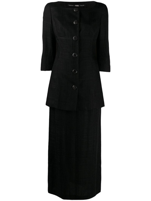 Gianfranco Ferré Pre-Owned 1990s blazer and skirt set in black