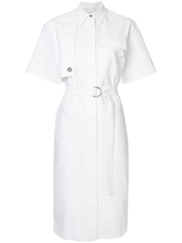 Cédric Charlier shirt dress in white