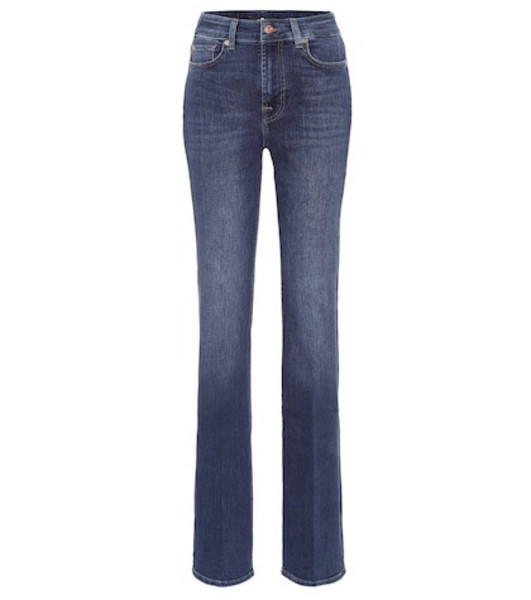 7 For All Mankind Lisha high-rise flared jeans in blue