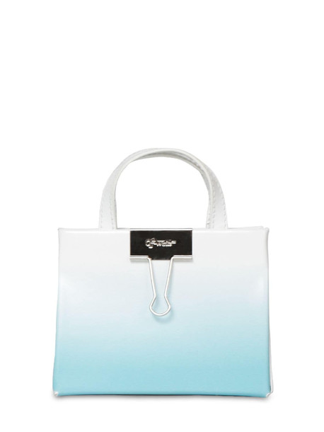 OFF-WHITE Baby Box Degradé Leather Bag in blue