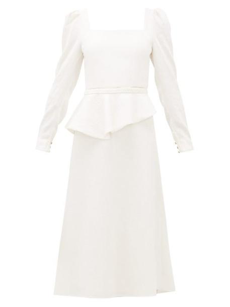 Johanna Ortiz - Catalyst Square Neck Crinkled Crepe Dress - Womens - Cream