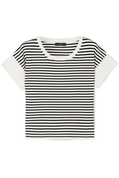 J.Crew - Striped Knitted T-shirt - Ivory