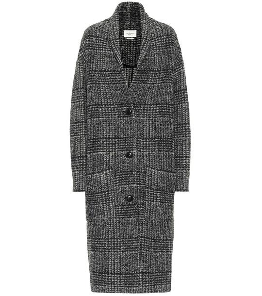 Isabel Marant, Étoile Elayo checked wool-blend coat in grey