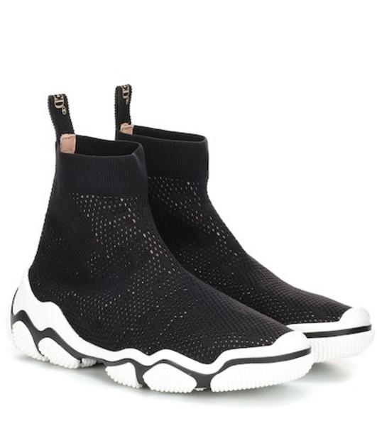 RED (V) RED (V) sock sneakers in black