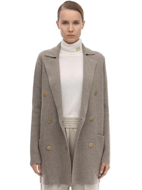 AGNONA Milano Stitch Cashmere Knit Jacket in beige