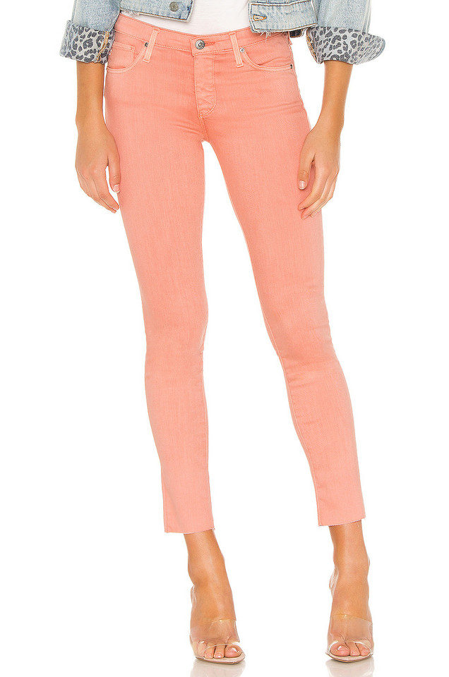 AG Adriano Goldschmied Legging Ankle in peach / white