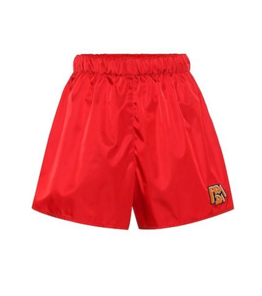 Prada Nylon shorts in red