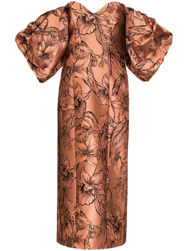 Johanna Ortiz Synchronicity off-the-shoulder midi dress in pink