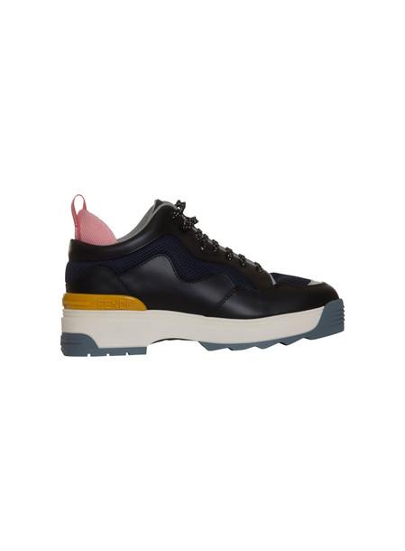 Fendi Sneakers Black Leather Sneakers