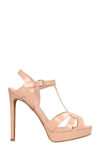 Lola Cruz Pink Patent Leather Sandals