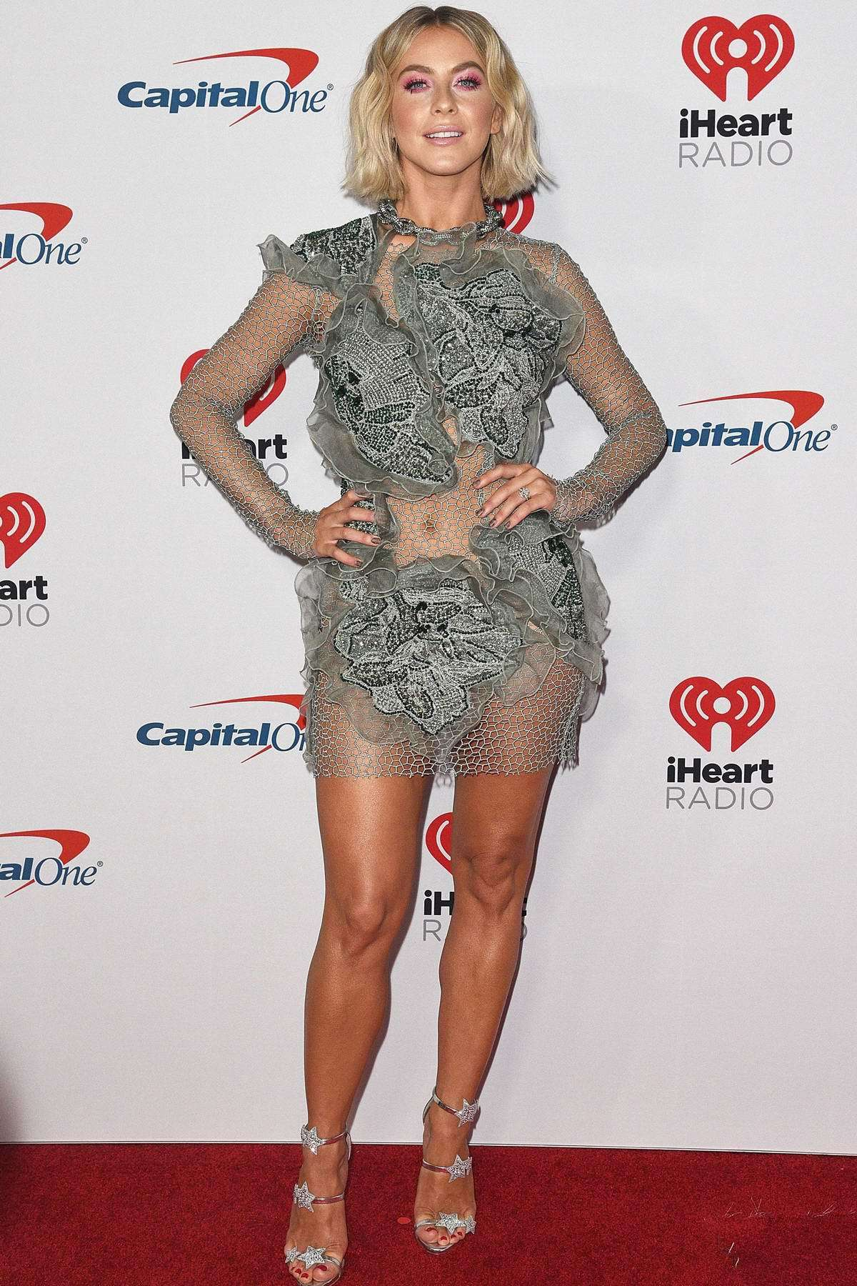 shoes Silver sandals silver julianne hough celebrity lace dress mini dress celebrity style