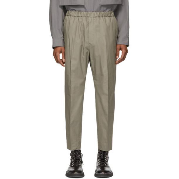 Jil Sander Green Classic Trousers