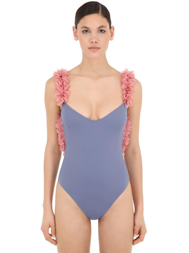 LA REVECHE Amira Lycra One Piece Swimsuit in blue