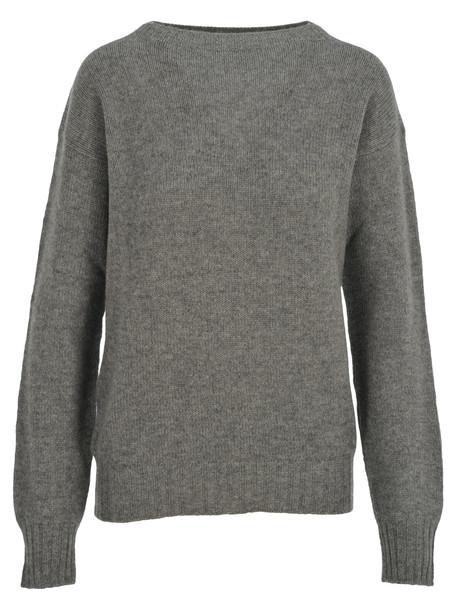 Prada Cashmere Boat Neck Sweater in grey