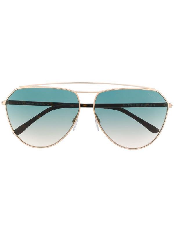 Tom Ford Eyewear gradient aviator sunglasses in brown