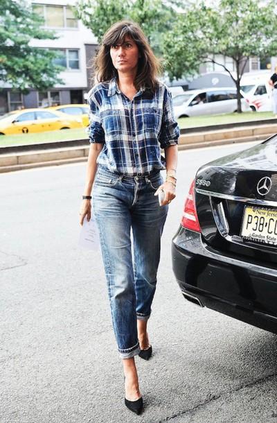 le fashion image blogger shirt jeans