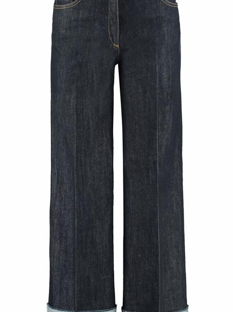 Boutique Moschino Wide Leg Jeans With Cuffs in denim / denim