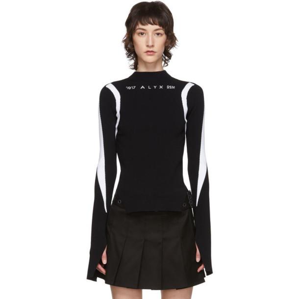 1017 ALYX 9SM Black Warp Speed Logo Sweater