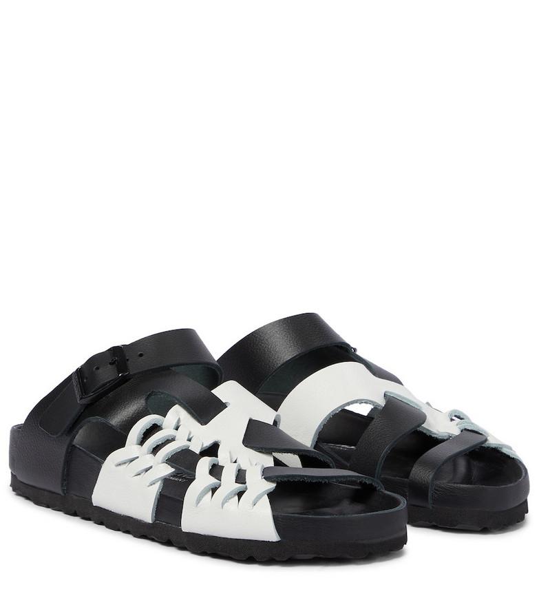 Birkenstock x CSM Tallahassee leather sandals in black