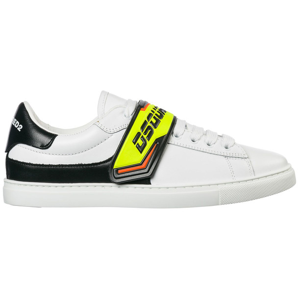 Dsquared2 Men's Shoes Leather Trainers Sneakers Tennis in bianco