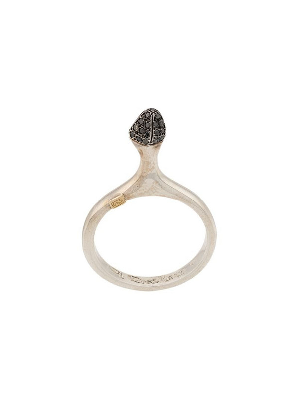 Rosa Maria cluster ring in silver