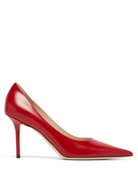 Jimmy Choo - Love 85 Leather Pumps - Womens - Red