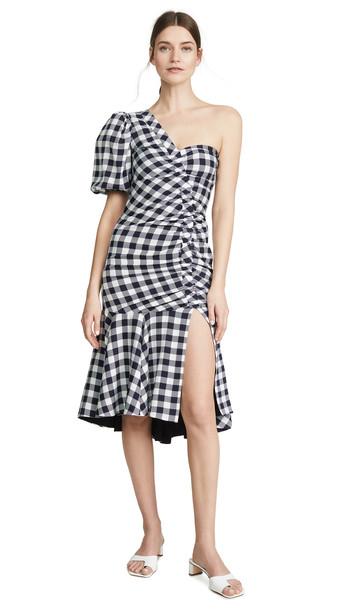 Jonathan Simkhai Lux Twill One Sleeve Dress in midnight