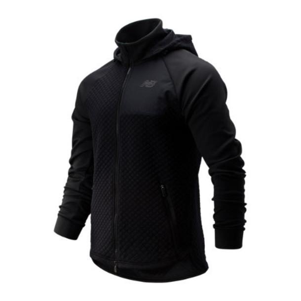 New Balance 93001 Men's NB Heat Loft Full Zip Hooded Jacket - Black (MJ93001BK)