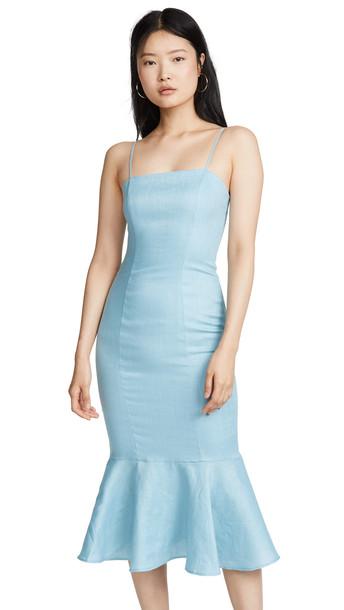 STAUD Lychee Dress in blue