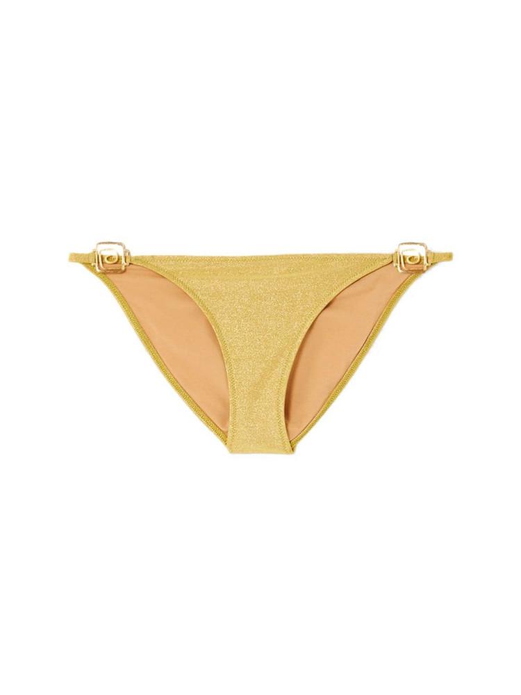 RIXO Elise Metallic Bikini Bottoms in gold