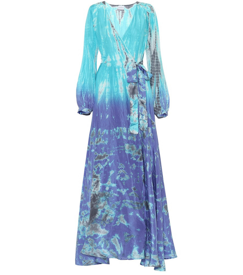 Anna Kosturova Exclusive to Mytheresa – Tie-dye silk maxi dress in blue