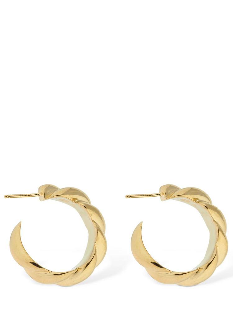 SOPHIE BUHAI Large Rope Hoop Earrings in gold