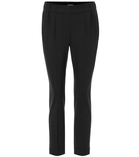 Brunello Cucinelli Cropped wool-blend pants in black