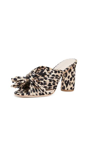 Loeffler Randall Penny Knot Mules in leopard