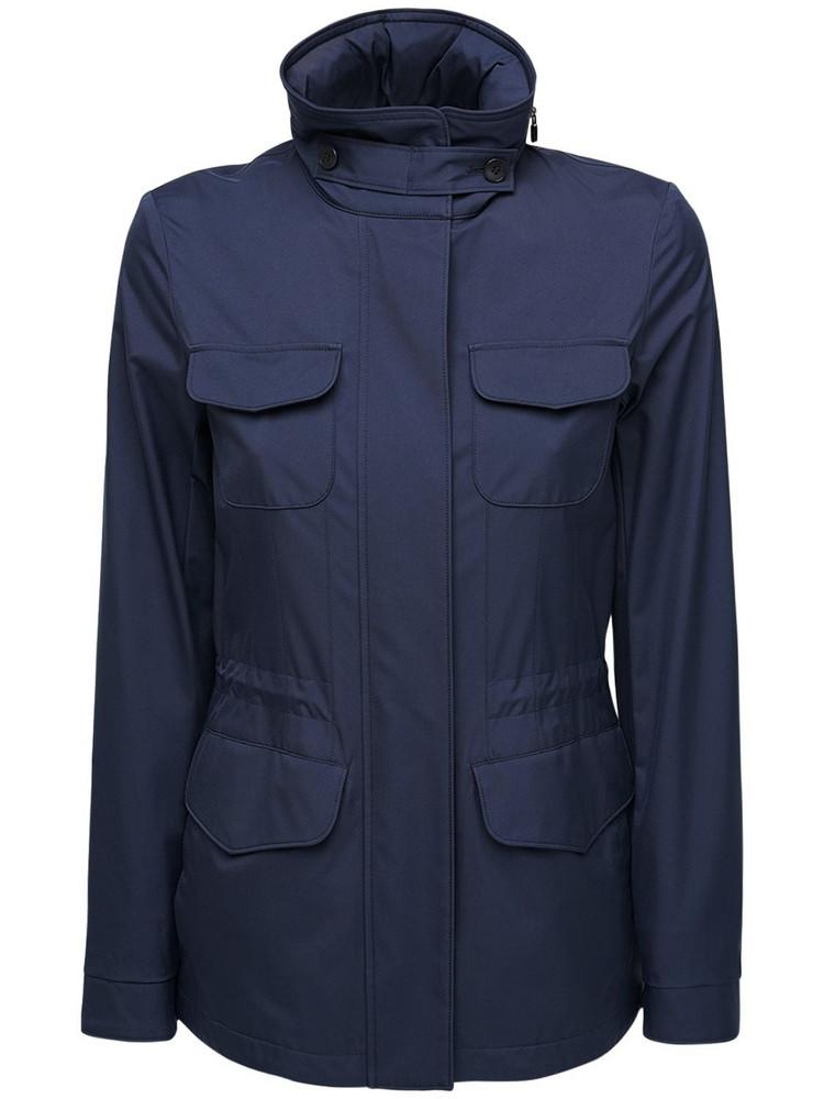 LORO PIANA Microfiber Jacket W/cashmere Lining in navy