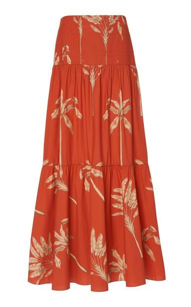 Johanna Ortiz Powerful Rhythm Printed Cotton Maxi Skirt Size: 2 in multi