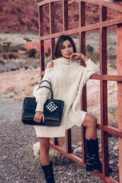 vivaluxury - fashion blog by annabelle fleur: nyfw mini moment,blogger,shoes,shorts,top,bag,skirt,dress,sweater