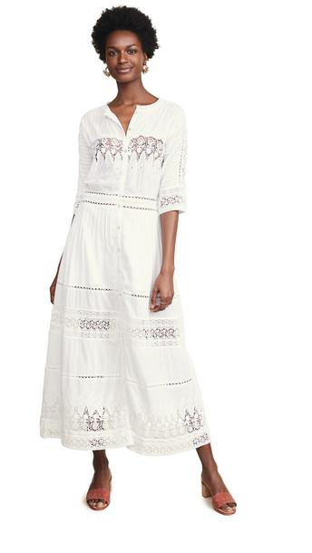 LOVESHACKFANCY Beth Dress in white