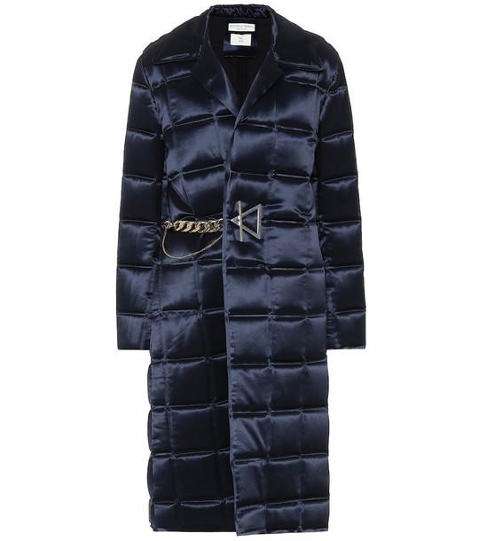 Bottega Veneta Padded satin coat in blue