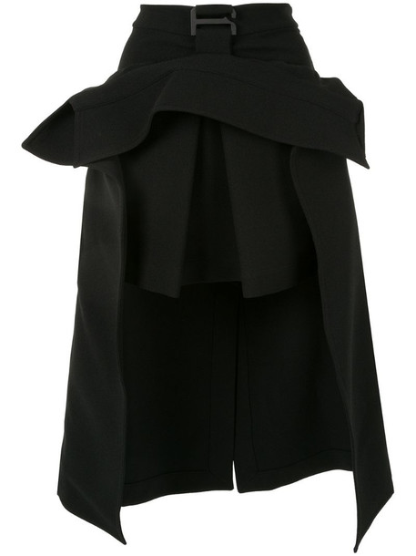 Dion Lee suspended trench skirt in black
