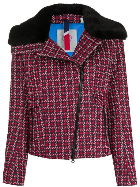 Rossignol Josiane houndstooth-print jacket in red